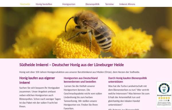 Vorschau von www.imkerei-ahrens.de, Imkerei Ahrens