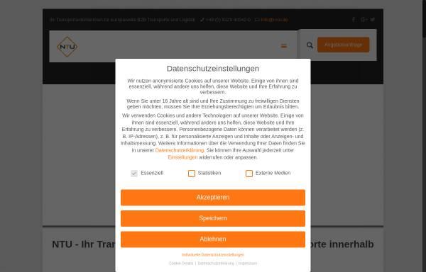 Vorschau von www.n-tu.de, NTU Nürnberger Transportunternehmen GmbH