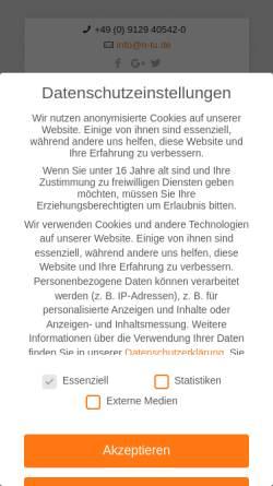 Vorschau der mobilen Webseite www.n-tu.de, NTU Nürnberger Transportunternehmen GmbH