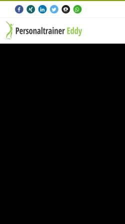 Vorschau der mobilen Webseite personaltrainer-eddy.de, Personal Trainer Eddy