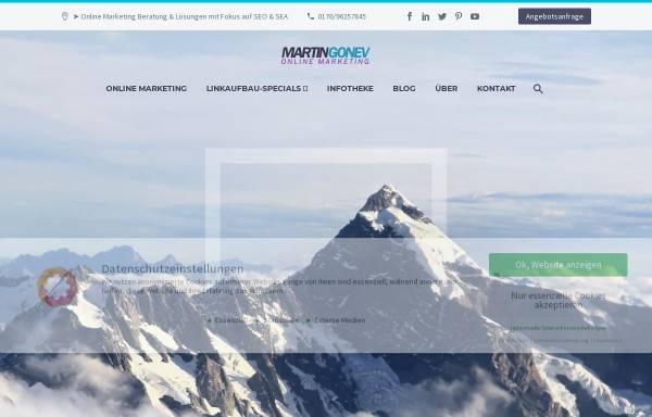 Vorschau von www.martingonev.de, martin gonev online marketing