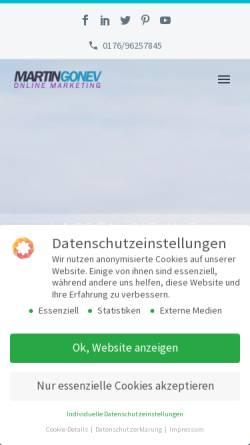 Vorschau der mobilen Webseite www.martingonev.de, martin gonev online marketing