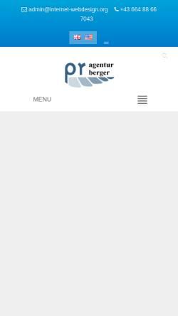 Vorschau der mobilen Webseite www.internet-webdesign.org, PR Agentur Michael Berger