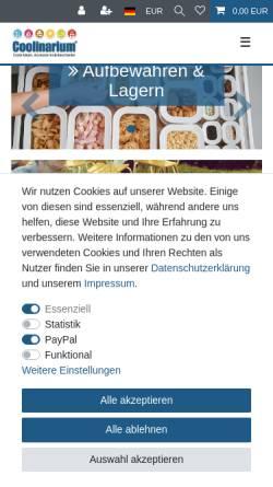 Vorschau der mobilen Webseite www.coolinarium.de, Coolinarium