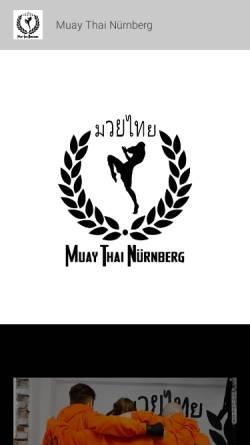 Vorschau der mobilen Webseite www.muaythai-nuernberg.de, MTN Muay Thai Nürnberg