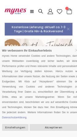 Vorschau der mobilen Webseite www.myneshome.de, MynesHome