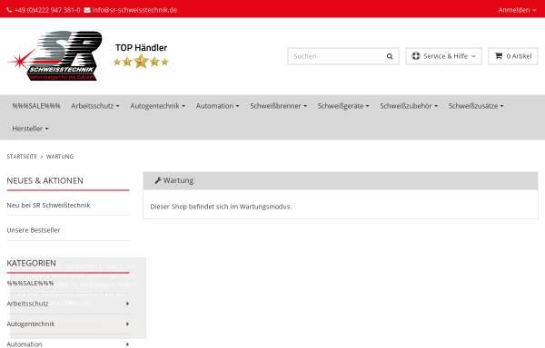 Vorschau von sr-schweisstechnik-shop.de, Alles rund ums Schweißen - SR Schweißtechnik GmbH