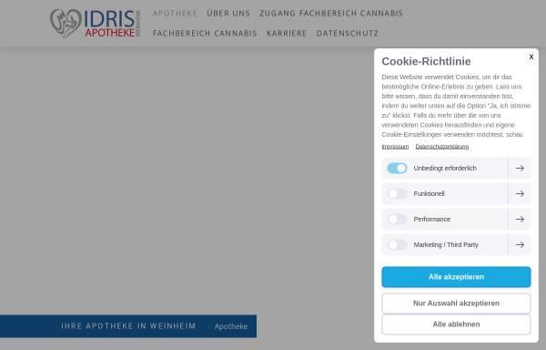Vorschau von www.idris-apotheke-weinheim.de, Idris Apotheke in Weinheim