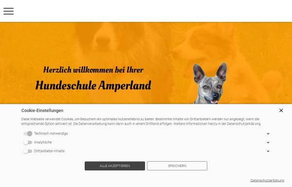 Vorschau von www.hundeschule-amperland.de, Hundeschule Amperland - Ihre mobile Hundeschule im LK Fürstenfeldbruck
