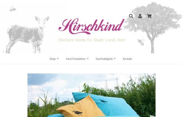 Vorschau von www.hirschkind.de, Hirschkind - Mode für Stadt, Land, Bett