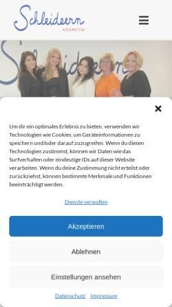 Vorschau der mobilen Webseite www.schleideern.de, Schleideideern Kosmetik