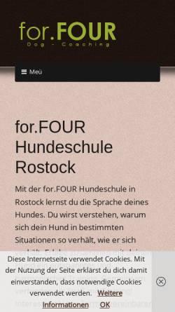 Vorschau der mobilen Webseite www.forfour-hundeschule.de, for.FOUR Hundeschule