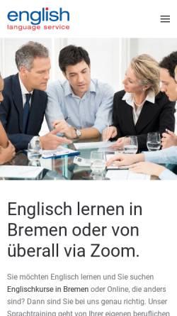 Vorschau der mobilen Webseite www.english-language-service.net, English Language Service