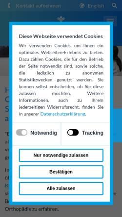 Vorschau der mobilen Webseite orthopaedie.klinik-am-ring.com, Orthopädie der Klinik am Ring