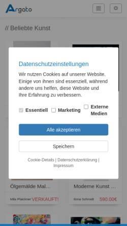 Vorschau der mobilen Webseite argato.de, Argato