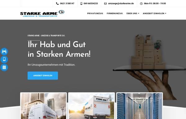 Vorschau von starkearme.de, Starke Arme - Umzüge & Transporte e.K.