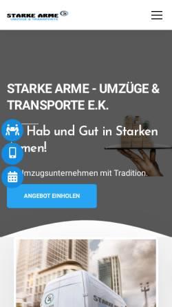 Vorschau der mobilen Webseite starkearme.de, Starke Arme - Umzüge & Transporte e.K.