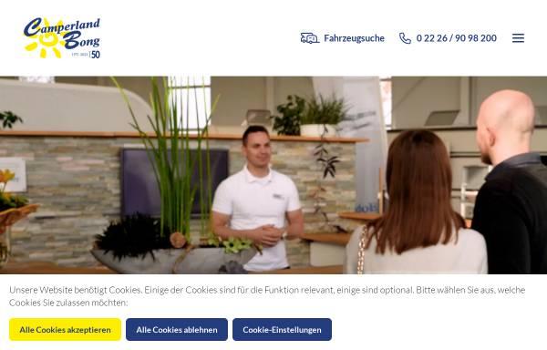 Vorschau von www.camperland-bong.de, Camperland Bong