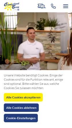 Vorschau der mobilen Webseite www.camperland-bong.de, Camperland Bong