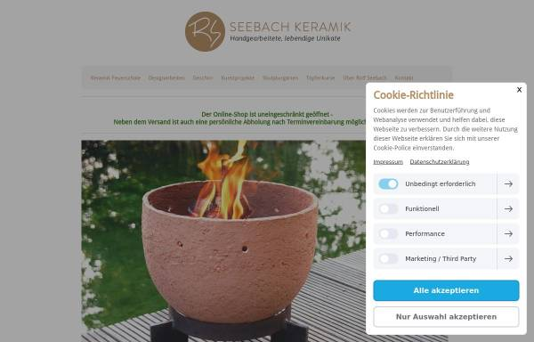Vorschau von www.seebach-keramik.de, Seebach Keramik