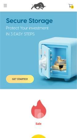 Vorschau der mobilen Webseite silvergoldbull.de, Silver Gold Bull Deutschland