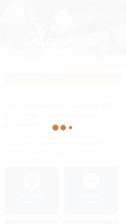 Vorschau der mobilen Webseite www.ug-gruenden.info, UG Gründen