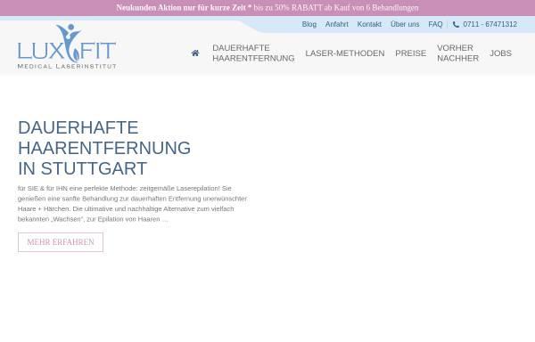 Vorschau von www.luxfit.de, LuxFit Medical Beauty in Stuttgart