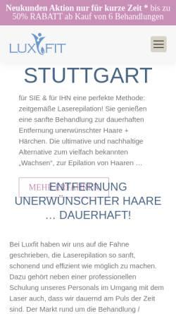 Vorschau der mobilen Webseite www.luxfit.de, LuxFit Medical Beauty in Stuttgart