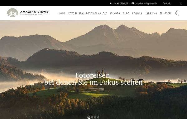 Vorschau von amazingviews.ch, Amazing Views Photo & Adventure Tours GmbH