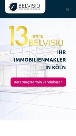 Vorschau der mobilen Webseite www.belvisio.de, Belvisio GmbH & Co. KG
