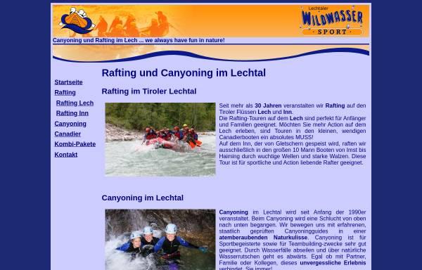 Vorschau von www.rafting-lech.info, Rafting auf dem Lech