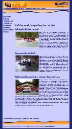 Vorschau der mobilen Webseite www.rafting-lech.info, Rafting auf dem Lech