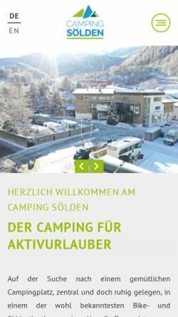 Vorschau der mobilen Webseite www.camping-soelden.com, Camping Sölden