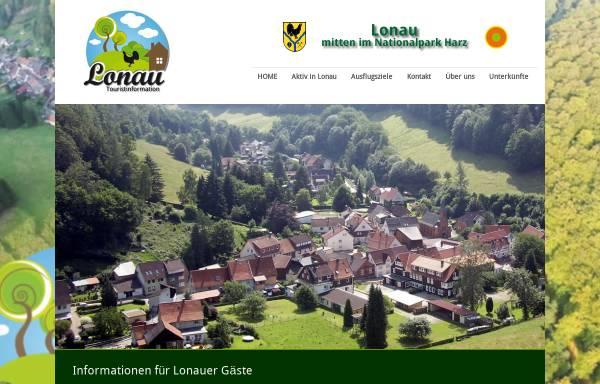 Vorschau von touristinformation-lonau.de, Touristinformation Lonau, Nationalpark Harz