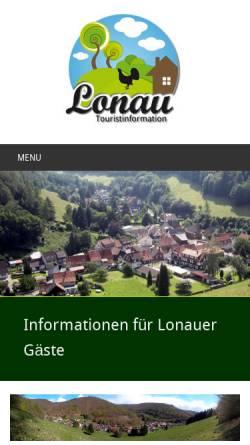 Vorschau der mobilen Webseite touristinformation-lonau.de, Touristinformation Lonau, Nationalpark Harz