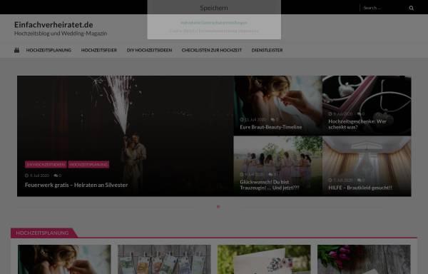 Vorschau von www.einfachverheiratet.de, einfach verheiratet