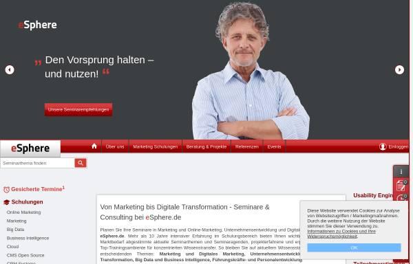 Vorschau von www.esphere.de, eSphere