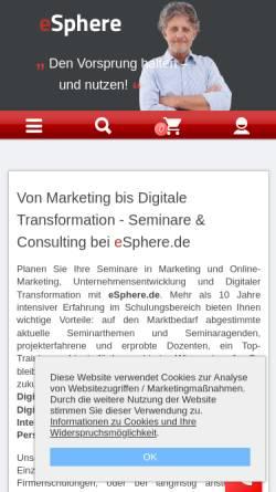 Vorschau der mobilen Webseite www.esphere.de, eSphere