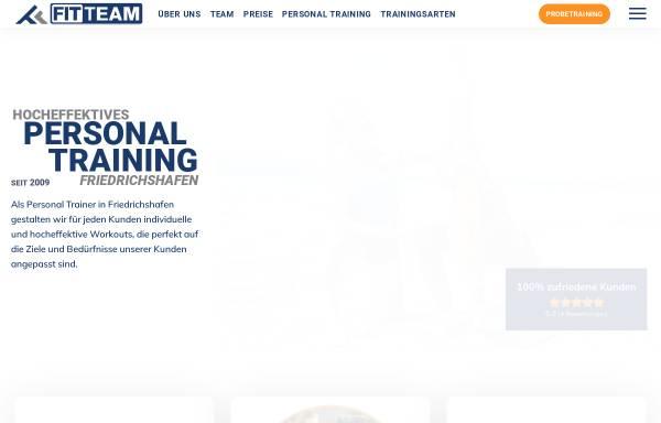Vorschau von personal-trainer-friedrichshafen.de, Fit Team