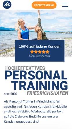 Vorschau der mobilen Webseite personal-trainer-friedrichshafen.de, Fit Team