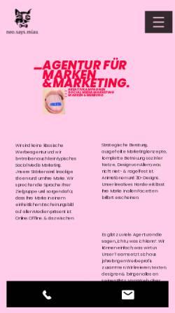 Vorschau der mobilen Webseite www.neosaysmiau.com, neo.says.miau. GmbH