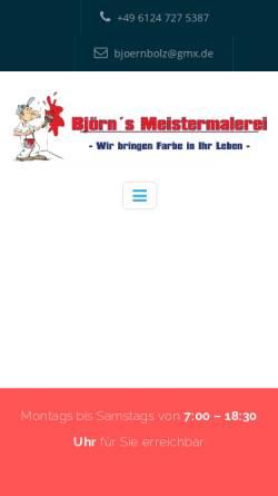 Vorschau der mobilen Webseite bjoerns-meistermalerei.de, Björns Meistermalerei