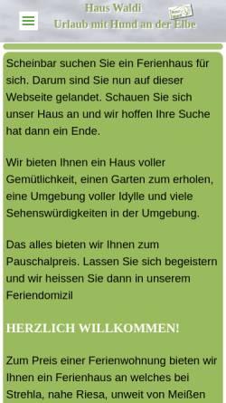 Vorschau der mobilen Webseite www.haus-waldi.de, Haus Waldi