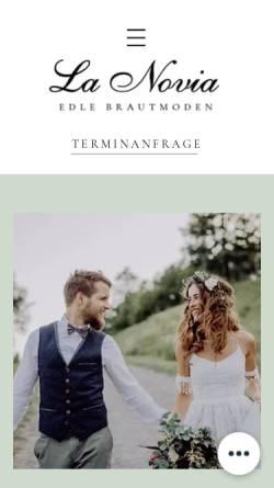 Vorschau der mobilen Webseite brautmode-niederbayern.de, La novia - Hochzeitsmode für Braut & Bräutigam