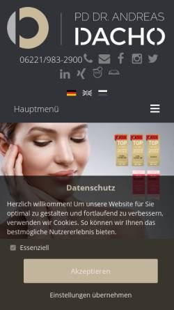 Vorschau der mobilen Webseite www.dr-dacho.de, Priv.-Doz. Dr. med. habil. A. Dacho