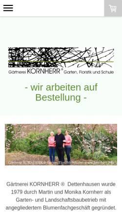 Vorschau der mobilen Webseite www.kornherr.info, Gärtnerei KORNHERR