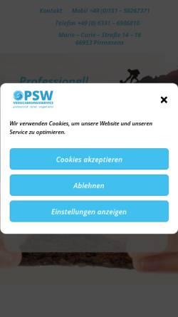 Vorschau der mobilen Webseite sparen-bei-versicherung.de, Versicherungsmakler Andreas Blum