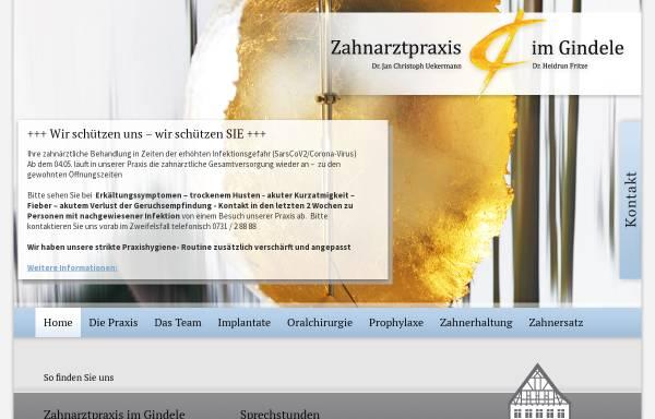 Vorschau von www.zahnarzt-im-gindele.de, Zahnarztpraxis im Gindele