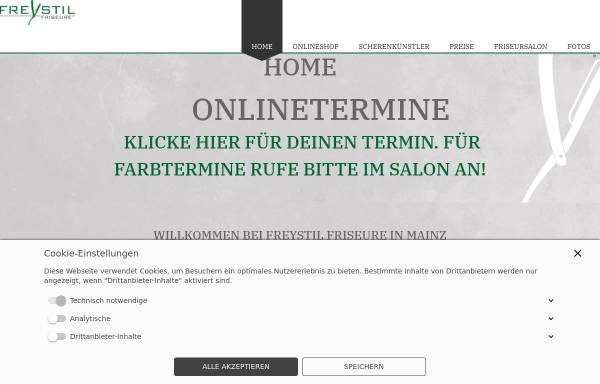 Vorschau von www.freystil-friseure.de, FREYSTIL FRISEURE