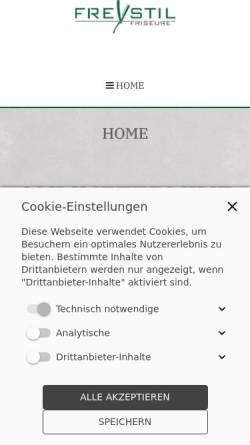 Vorschau der mobilen Webseite www.freystil-friseure.de, FREYSTIL FRISEURE